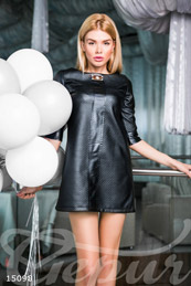 Bright leather dress photo 1
