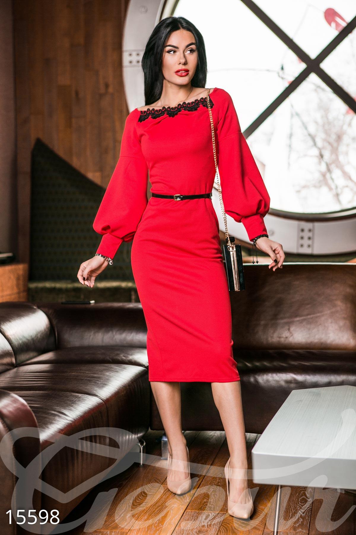 da6e401c69ae58c Элегантное платье-миди - купить оптом и в розницу | GEPUR