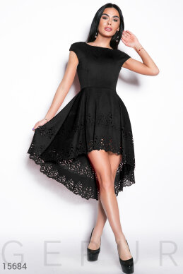 Perforated asymmetrical dress photo 1