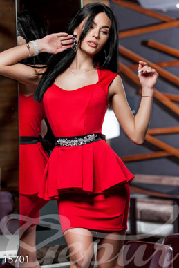 Dress with peplum photo 1