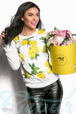 Sweatshirt with lemons photo 1
