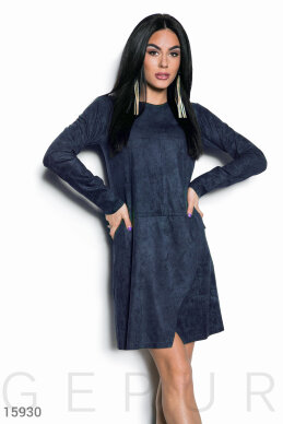 Stylish suede dress photo 1