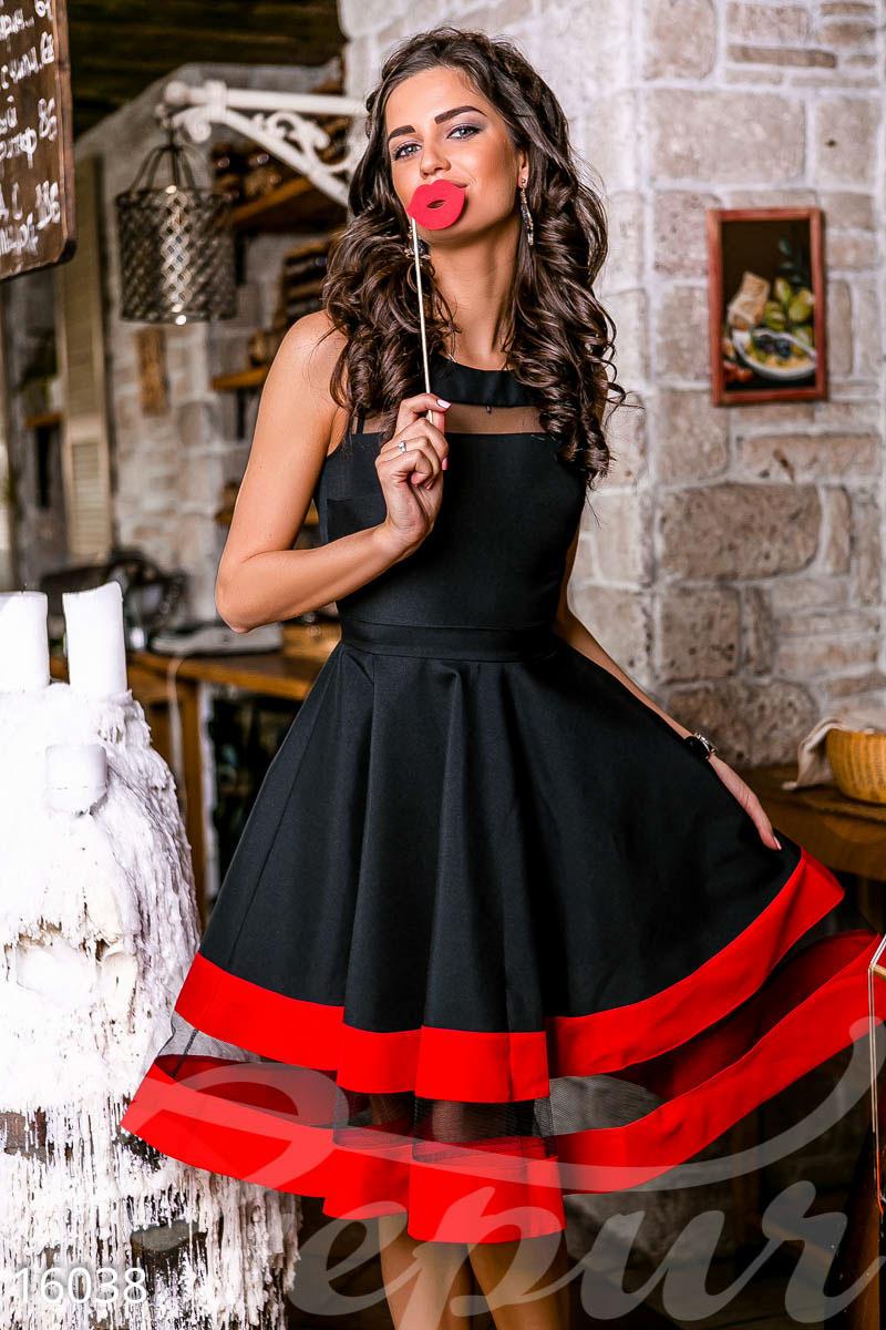fb9709079b7 Пышное платье-миди - купить оптом и в розницу
