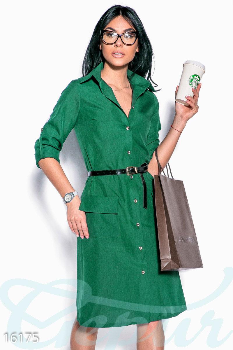 770503f0724 Стильное платье-рубашка - купить оптом и в розницу