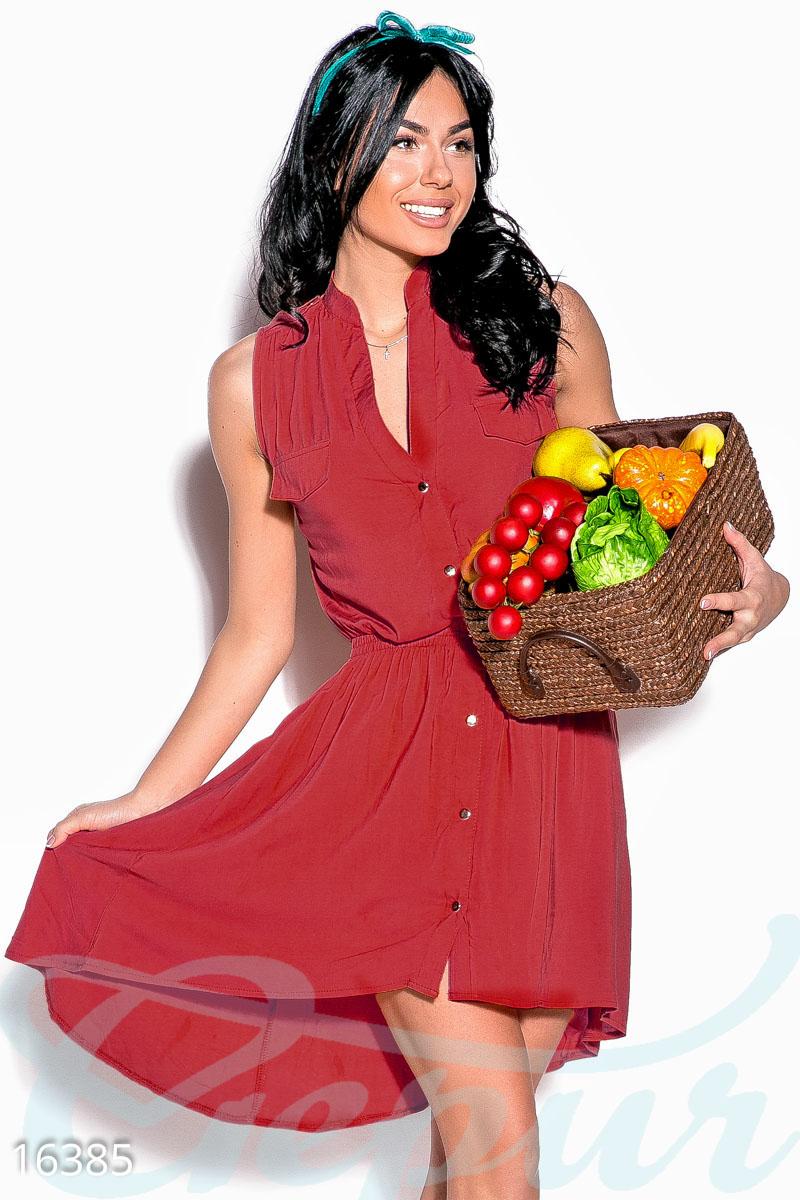 957d607534e Летнее асимметричное батальное платье - купить оптом и в розницу в Украине  и России