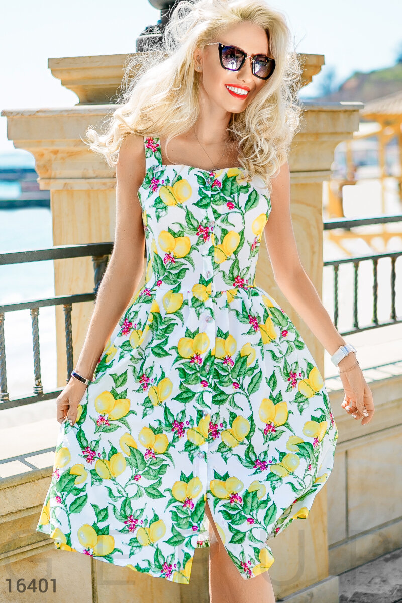 Sundress with lemons White 16401