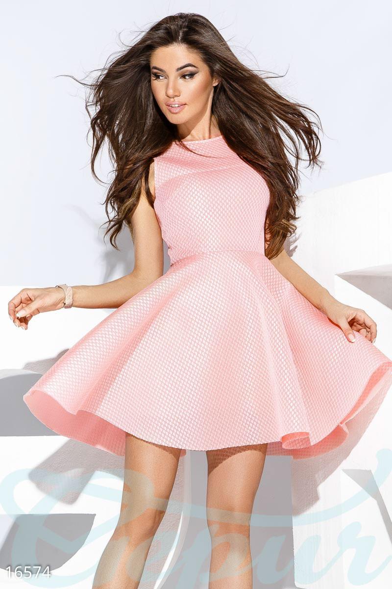 Gepur   Пышное коктейльное платье арт. 16574 Цена от производителя,  достоверные описание, отзывы, фото , Цвет  нежно-розовый 8f3190d1866