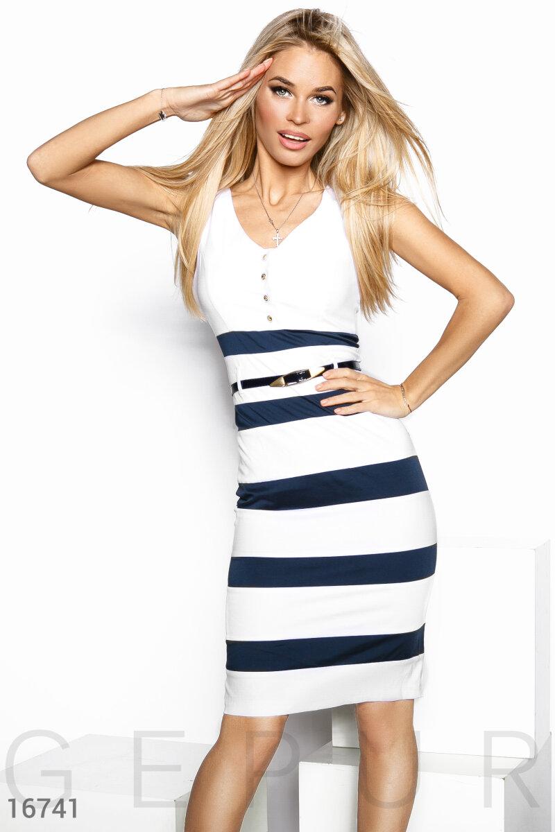 71e6b18d0cce0f7 Женственное полосатое платье - купить оптом и в розницу | GEPUR