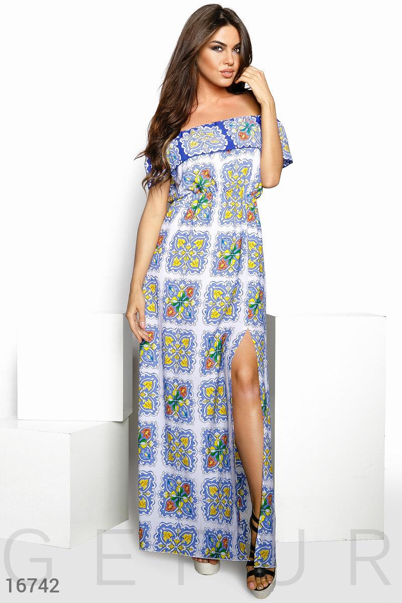 Шифоновое платье-макси