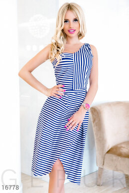 Stylish striped dress photo 1