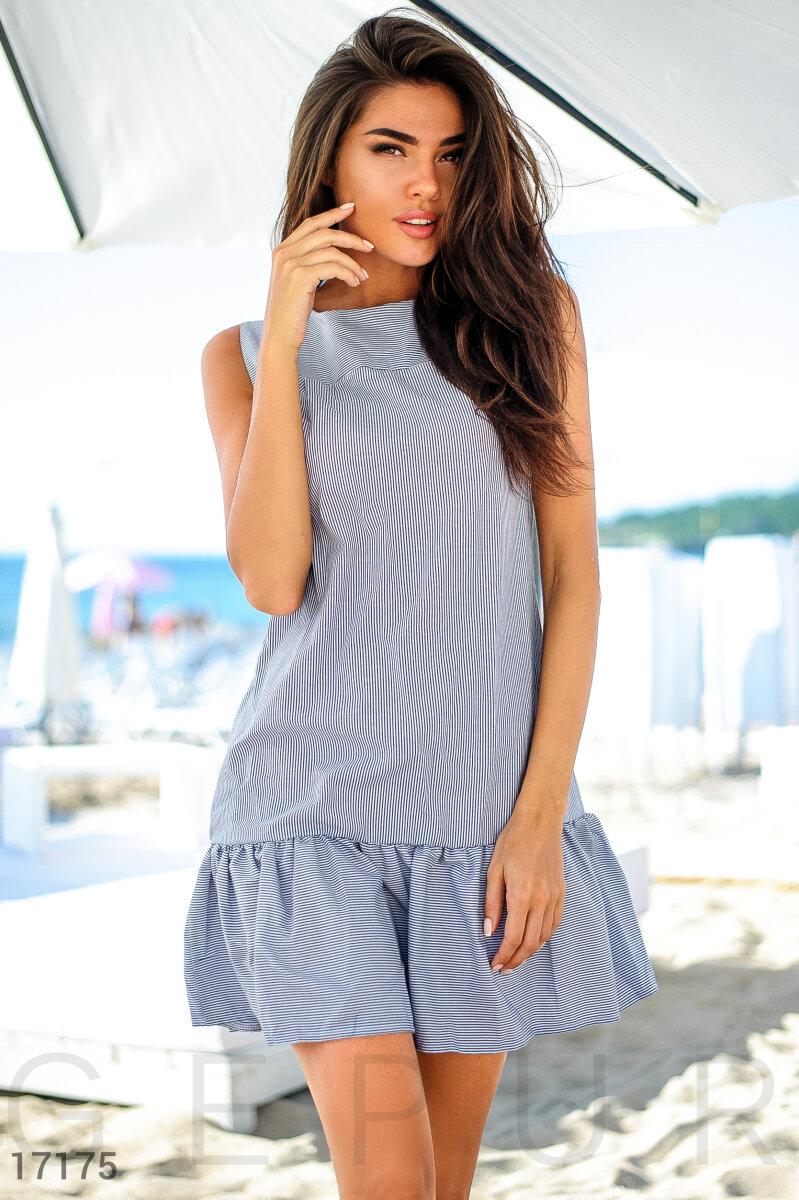 9d4cb45f53a6 Gepur   Стильное полосатое платье арт. 17175 Цена от производителя,  достоверные описание, отзывы, фото , Цвет  бело-серый