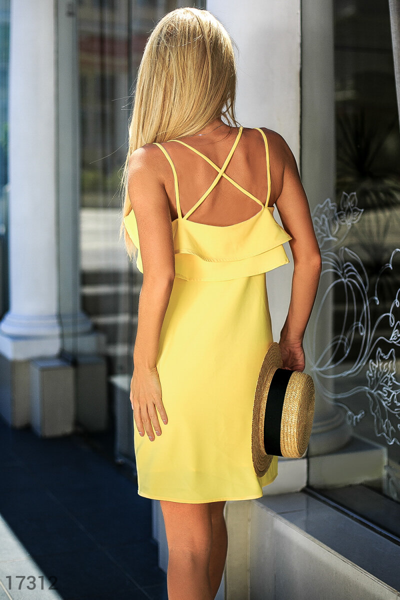 Bright summer dress Yellow 17312