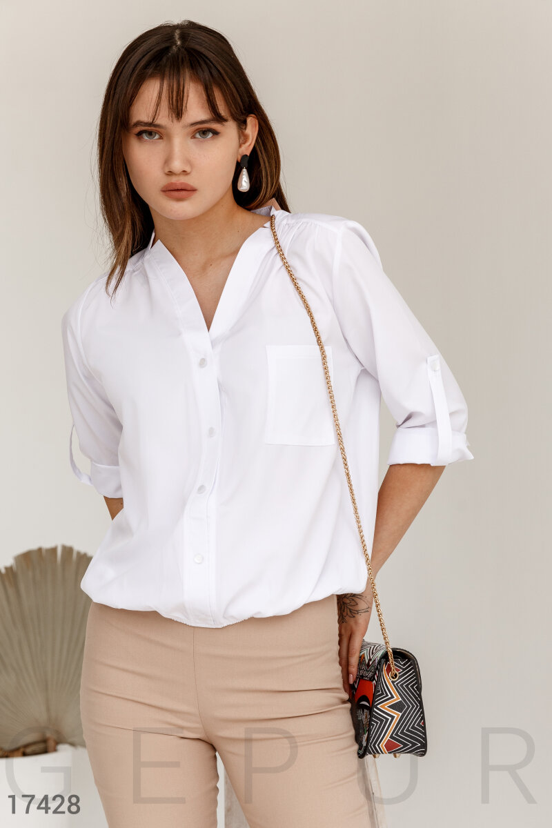 Loose blouse White 17428