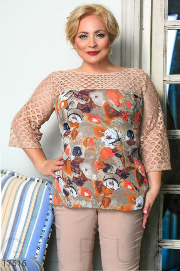 Combined stylish blouse photo 1