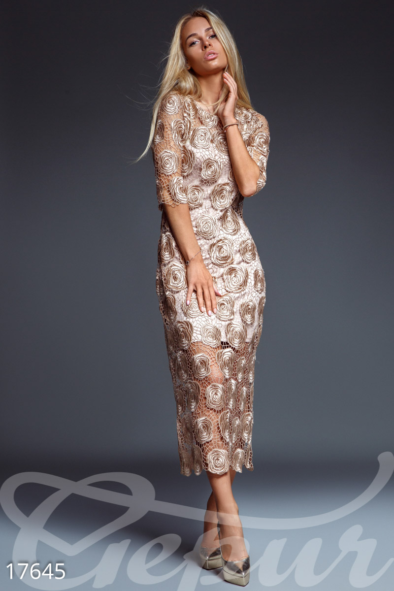 Платья цвета бронзы