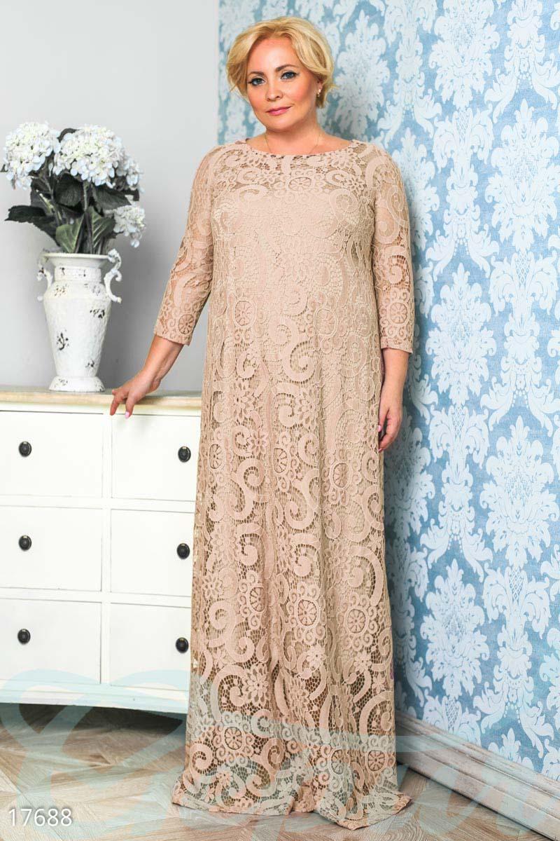 98de0fa7066 Длинное гипюровое платье - купить оптом и в розницу