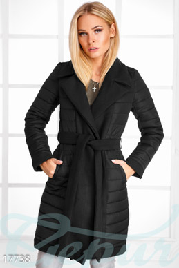 Elongated quilted coat photo 1