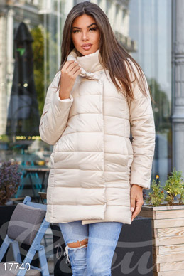 Long quilted jacket photo 1
