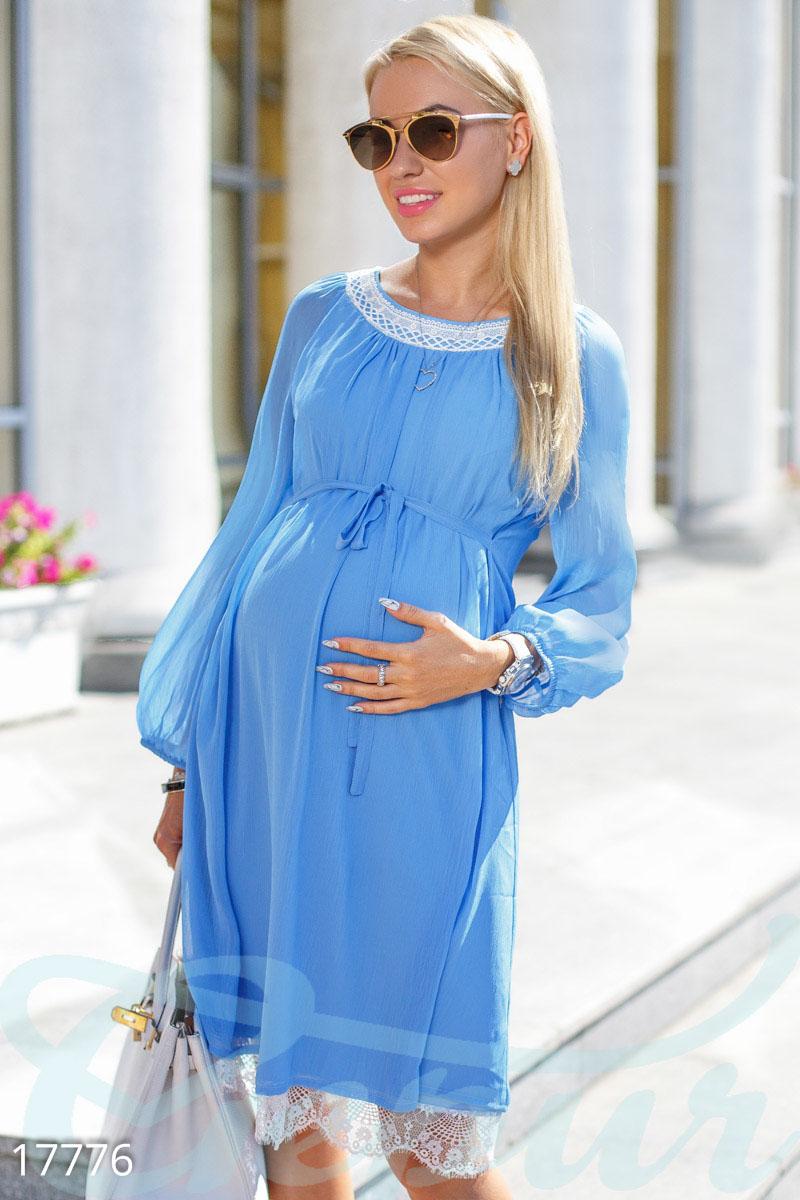 Шифоновое платье для беременной