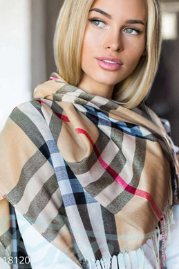 Plaid scarf-stole photo 1