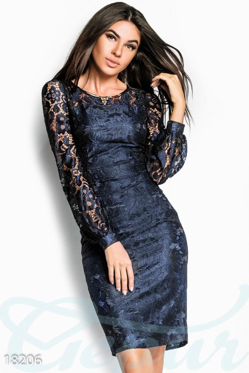 8e7539b09af Вечернее гипюровое платье - купить оптом и в розницу