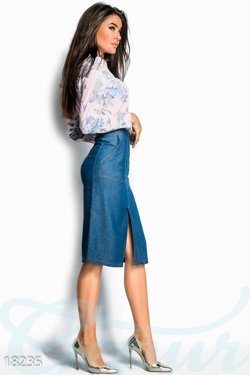 7ee36a041a9 Джинсовая юбка-карандаш - купить оптом и в розницу