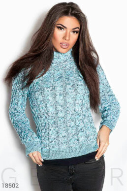Melange knitted sweater photo 1
