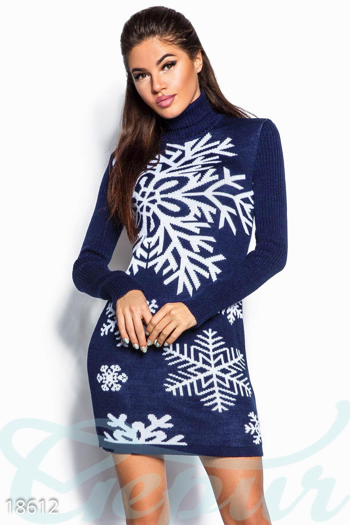 теплое вязаное платье купить оптом и в розницу Gepur
