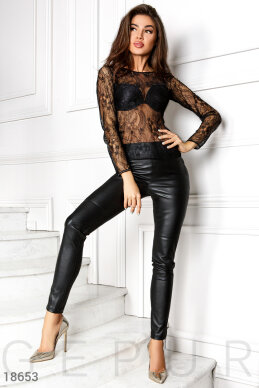 Slinky leather leggings photo 1