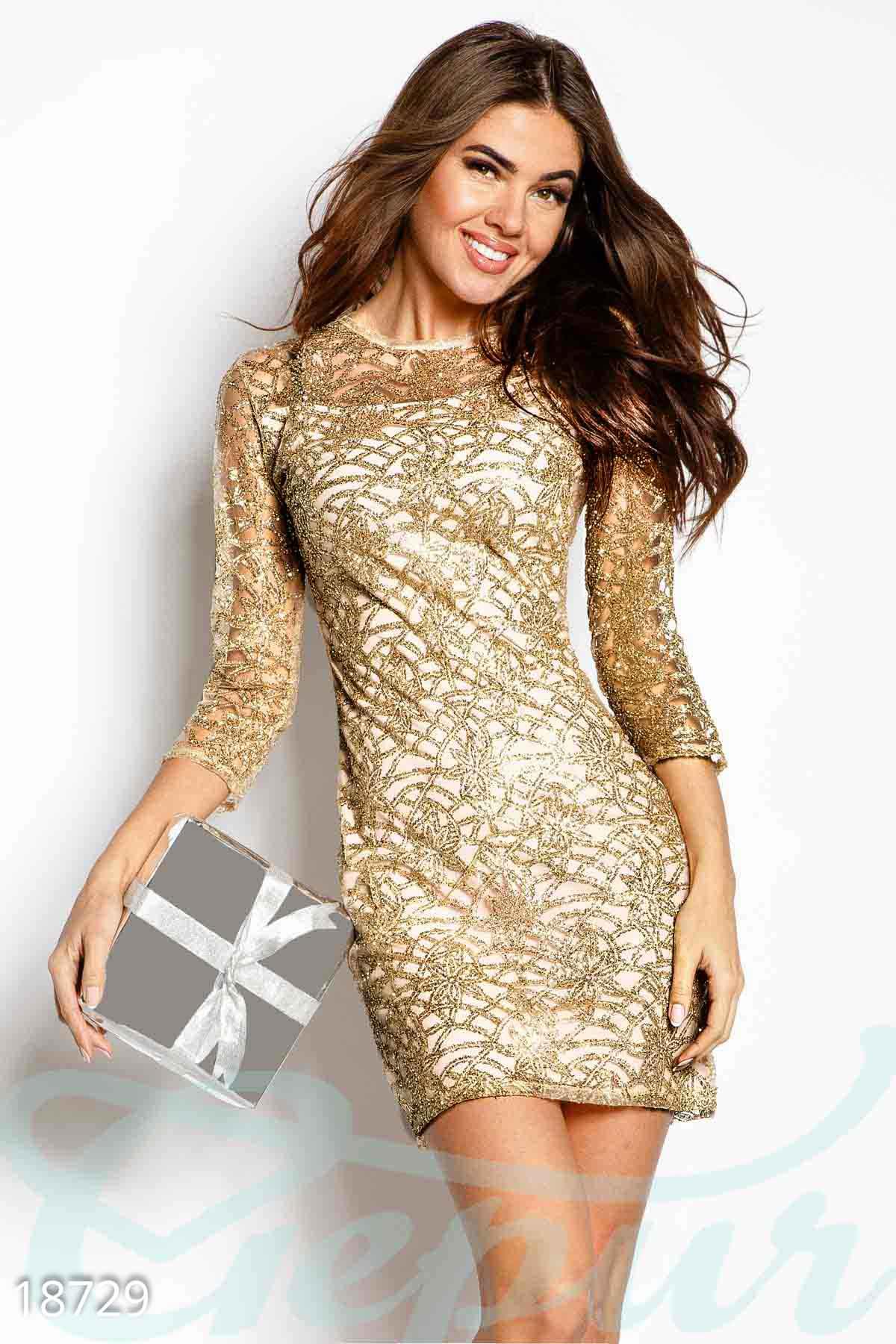 02c912e1389 Коктейльное платье блестки - купить оптом и в розницу