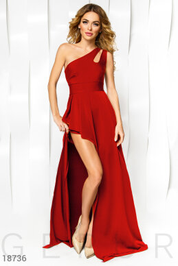 Asymmetrical evening dress photo 1