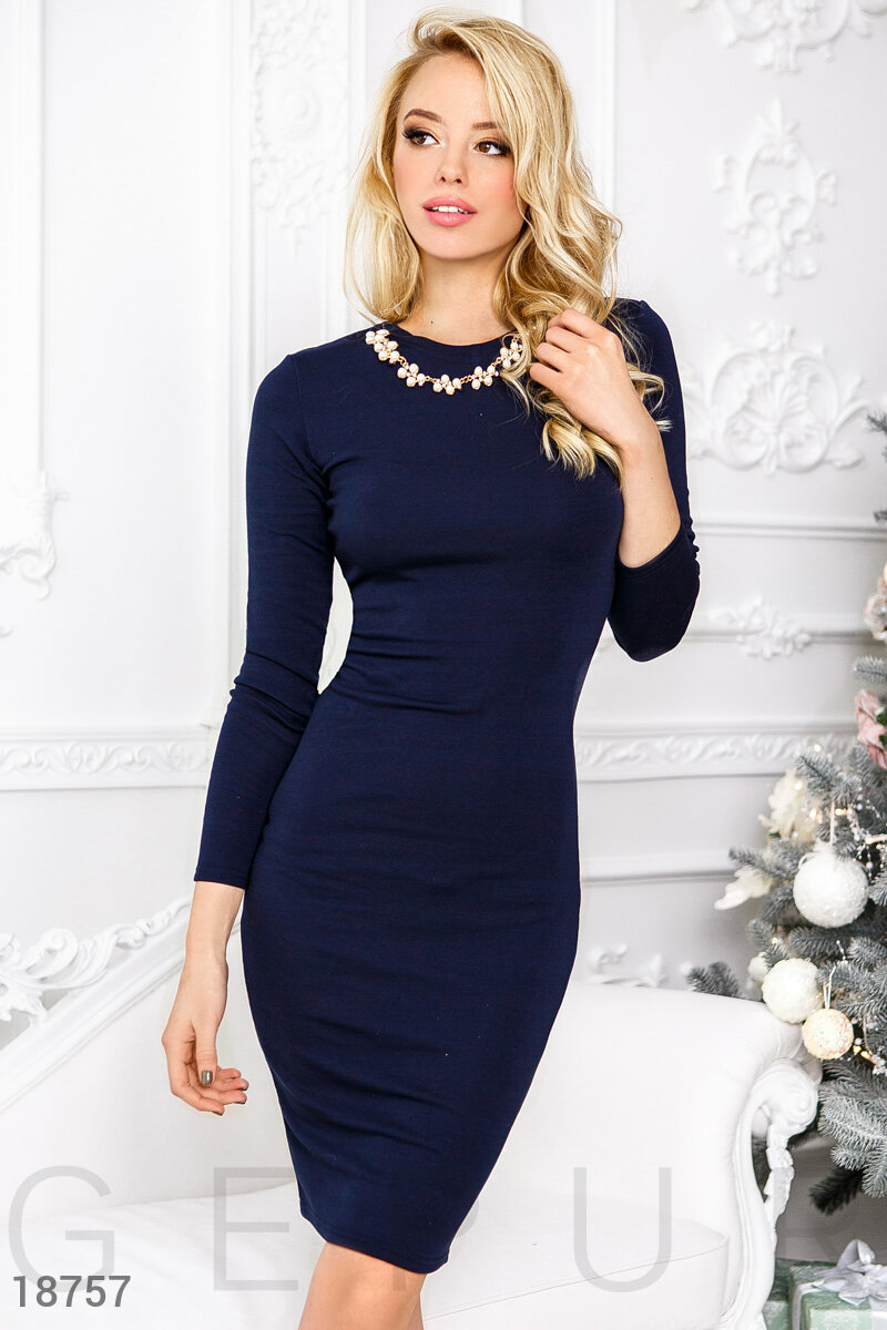Basic Jersey dress Blue 18757