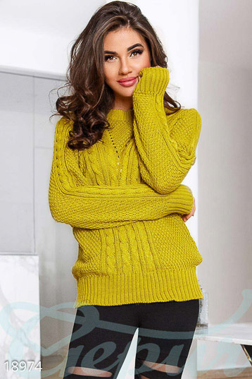 Knitted oversize sweater photo 1