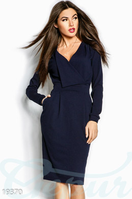 Classic neckline dress photo 1