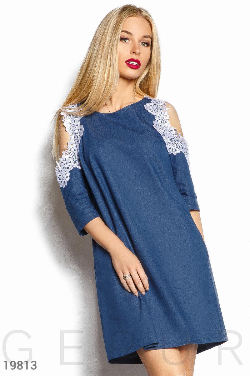 9ef810812e5 Расклешенное джинсовое платье - купить оптом и в розницу