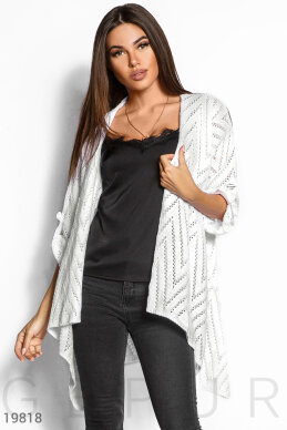 Knitted pointelle cardigan photo 1
