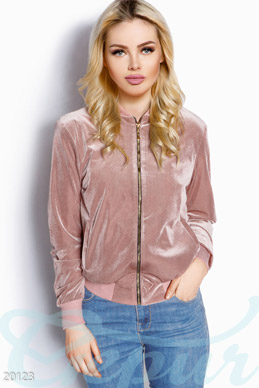 Stylish velvet bomber jacket photo 1
