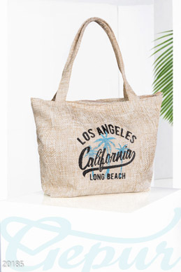 Woven beach bag photo 1