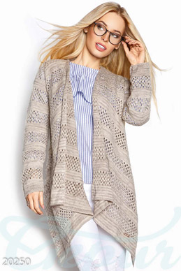 Asymmetric knitted cardigan photo 1
