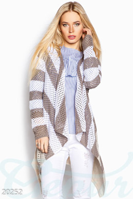 Knitted striped cardigan photo 1