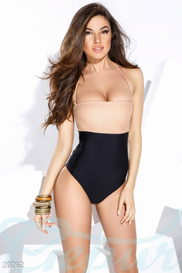 Exclusive two-tone swimsuit photo 1