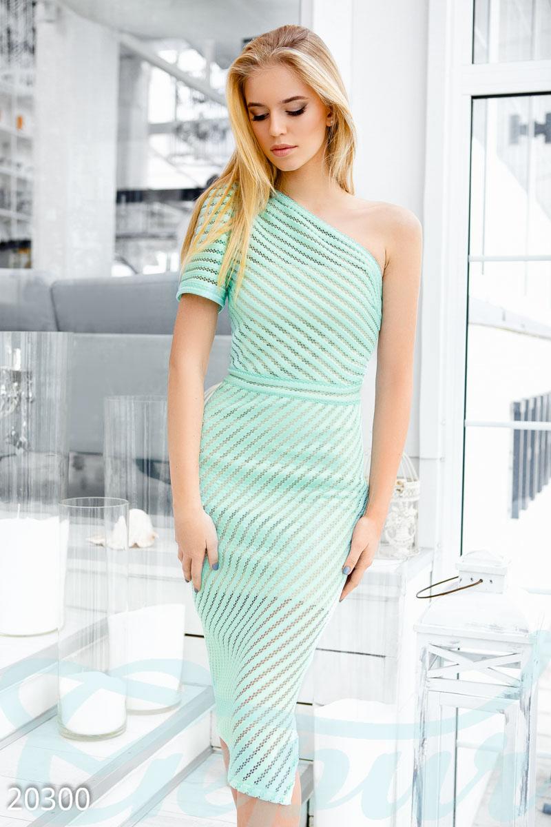 Gepur   Платье сетка неопрен арт. 20300 Цена от производителя, достоверные  описание, отзывы, фото , Цвет  ментоловый 29f8f8af11a