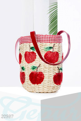Straw bag barrel photo 1