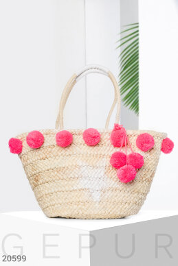 Beach bag POM-poms photo 1
