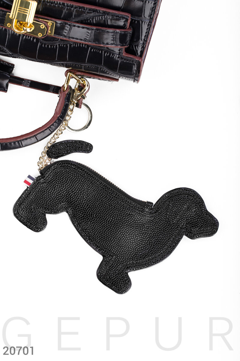 "Leather key ring ""Dog"""