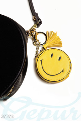 Leather key ring Smile photo 1