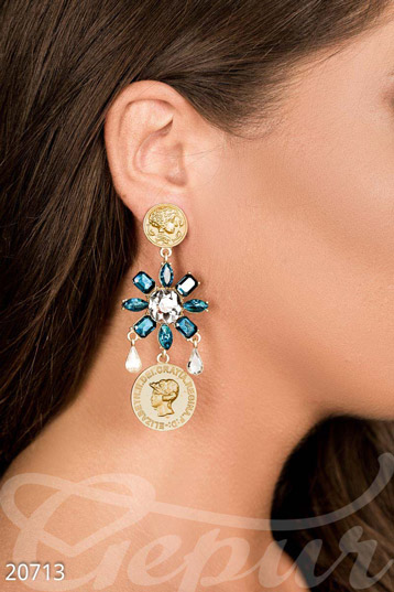Bright earrings-flowers photo 1