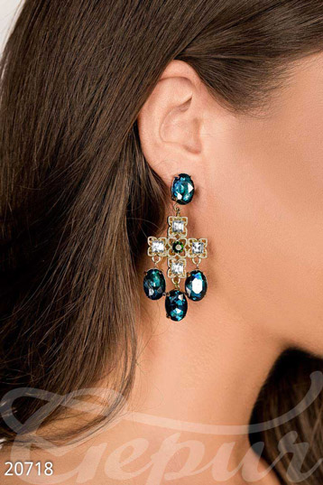 Earrings with stones  photo 1