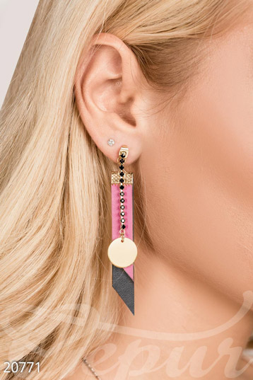Colorful pendant earrings photo 1