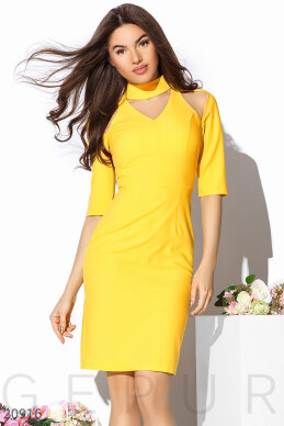 Bright sheath dress photo 1